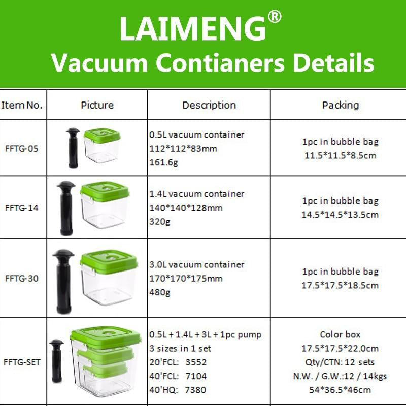 Large Capacity Food Storage Vacuum Containers - Prep it