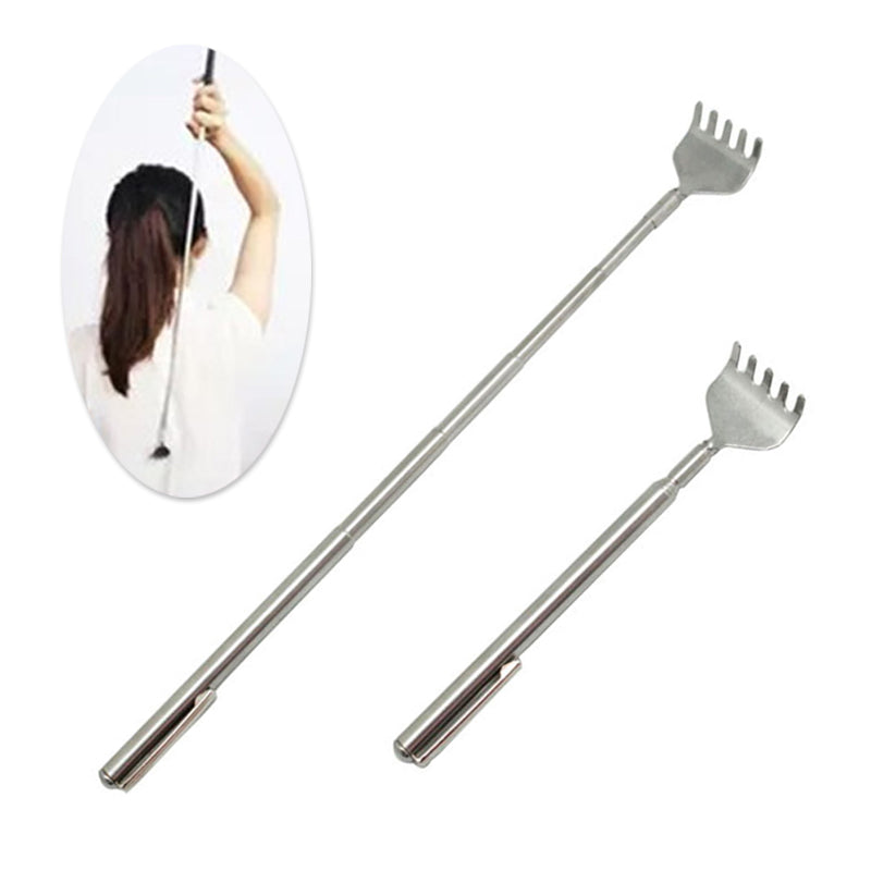 Portable Telescopic Adjustable Size Pen Clip Massage Stainless Steel Telescopic Back Scratcher Itch Scratch Massage Tool - Prep it