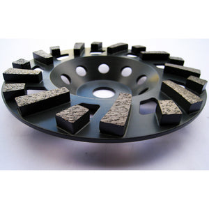 Refine Cup Wheel - 180mm - M Bond - 18 SEG - 30 Grit, Surface Plus US