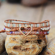 Load image into Gallery viewer, Natural Tourmaline Crystal Wrap Bracelet - Maui Kitten Beachwear