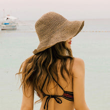 Load image into Gallery viewer, Boho Style Floppy Straw Sun Hat - Maui Kitten Beachwear