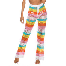 Load image into Gallery viewer, Rainbow Hollow Knitted Crochet Beach Leggings - Maui Kitten Beachwear