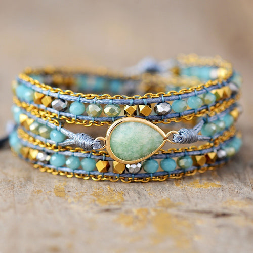 Unique Multilayered Bohemian Wrap Bracelet