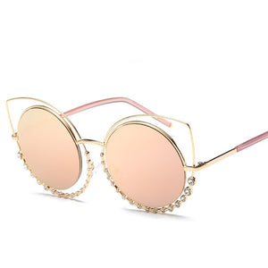 Crystal Cat Eye Sunglasses - Maui Kitten Beachwear
