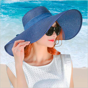 Wide Brim Straw Beach Hat - Maui Kitten Beachwear