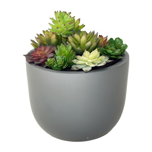 Bowl Table Top Planter with Artificial Greenery