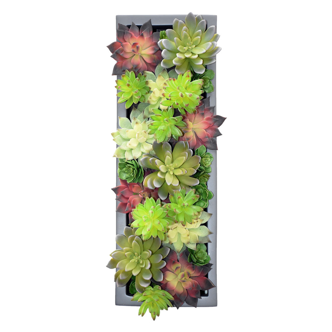 Rectangular Table Top Planter with Artificial Greenery
