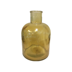 Glass Vase - Coloured Bottle