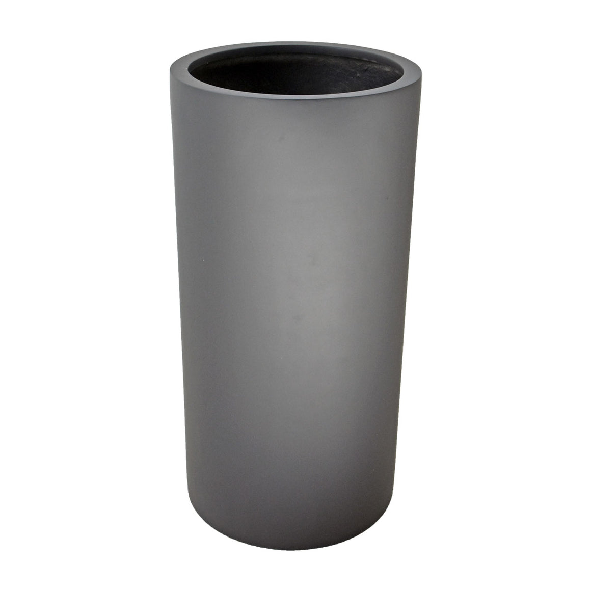 Fibreglass Tall Cylinder Planter with Short Grass