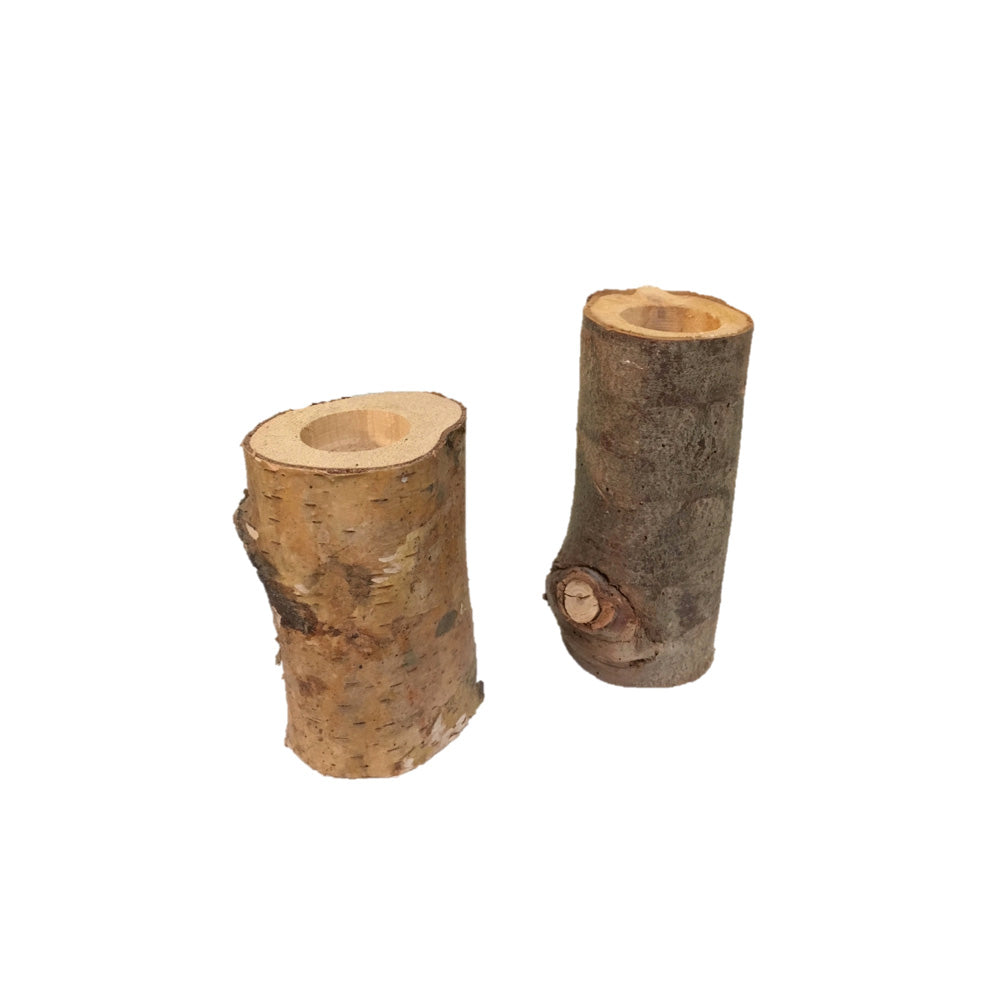 Votive - Wood Stumps