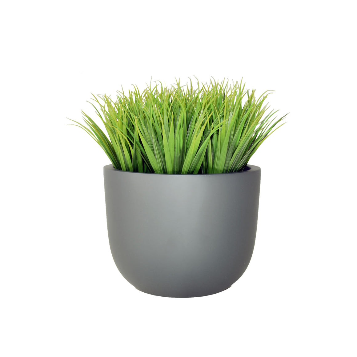 "11"" Round Planter with Grass"