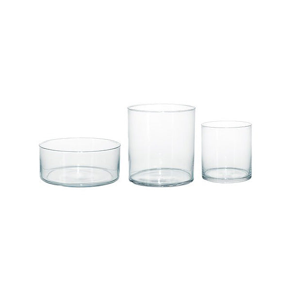 Glass Vase - Low Cylinder, Various Sizes