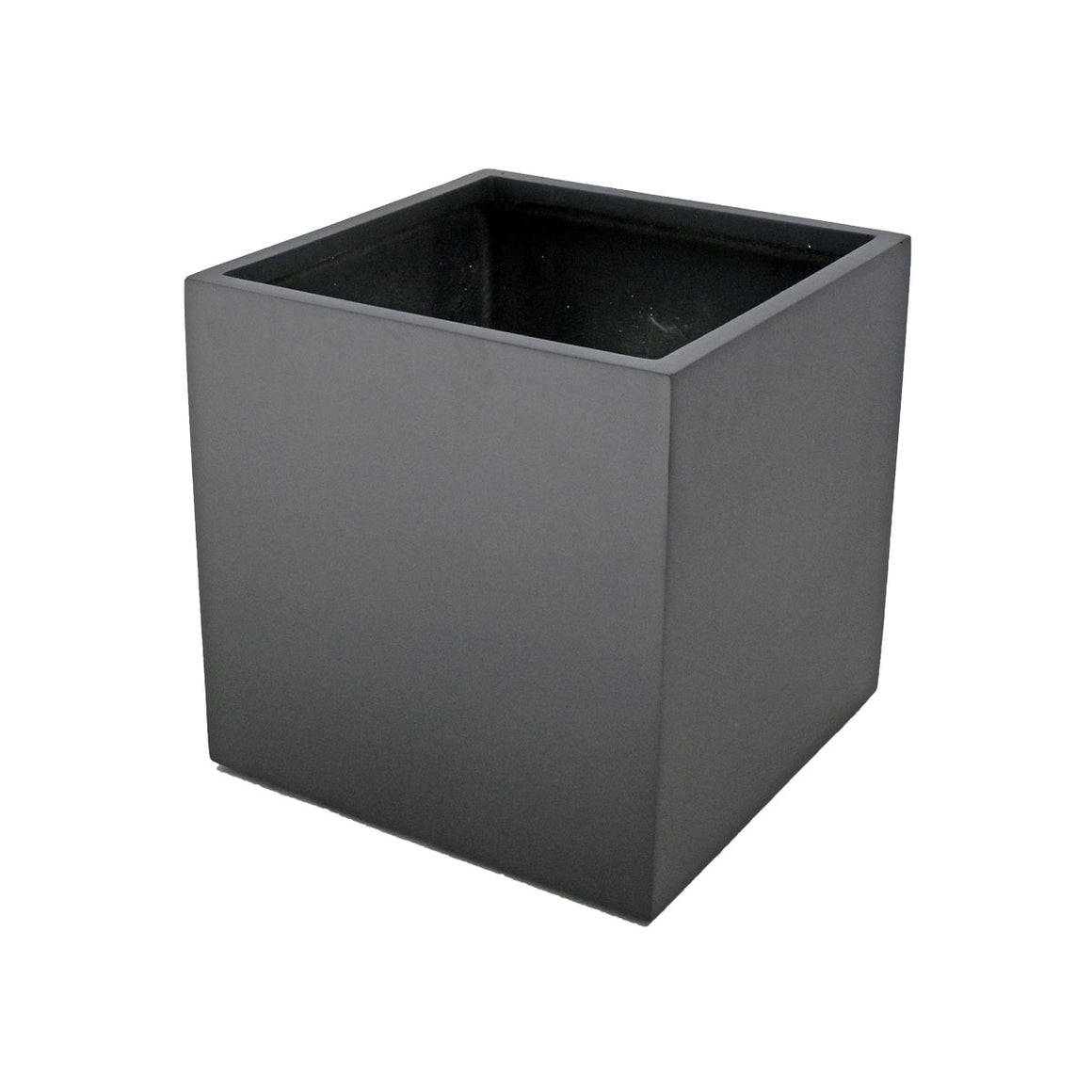Fibreglass Cube Planter with Short Grass