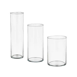 Glass Vase - Tall Cylinder
