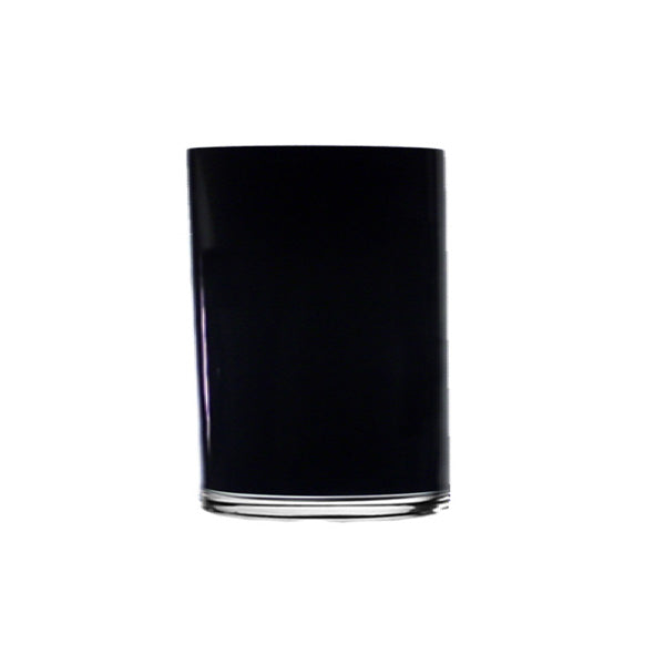 Glass Vase - Black Cylinder