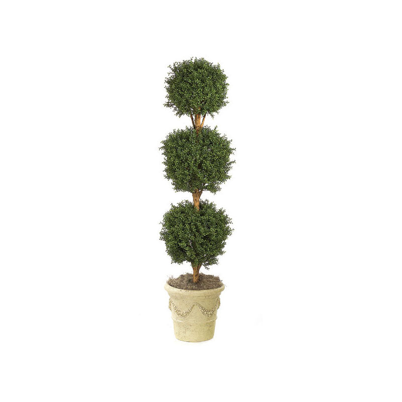 Boxwood 3-Ball Topiary