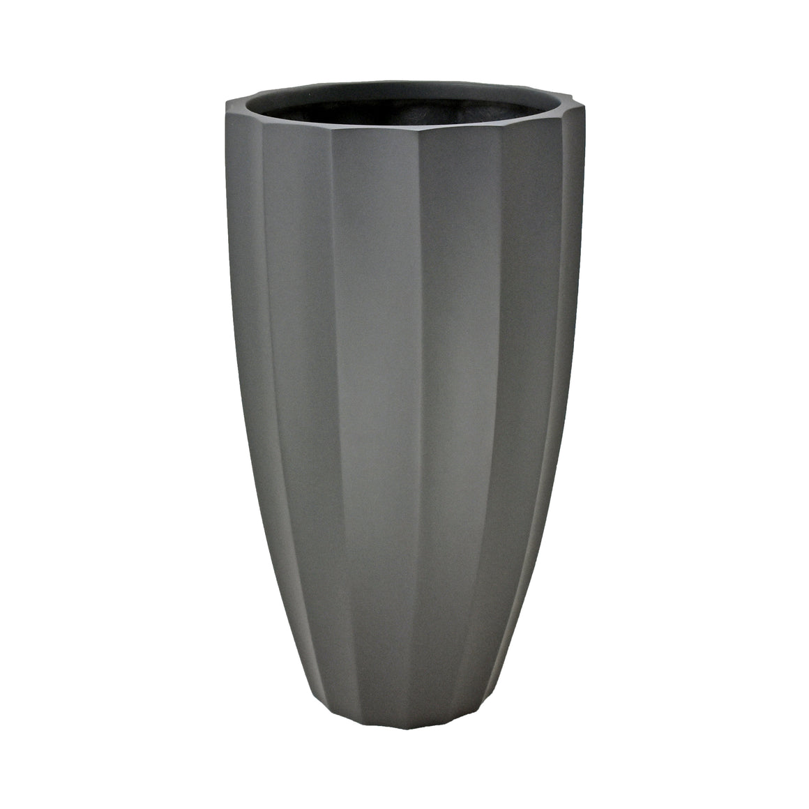 Fibreglass Fluted Planter with Short Grass
