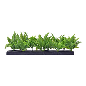 Aluminum Trough Planter with Artificial Greenery