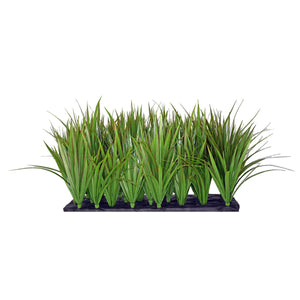 Fibreglass Trough Planter with Artificial Greenery