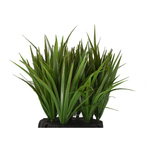 Fibreglass Cube Planter with Tall Grass