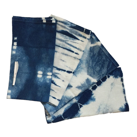 Flour Sack Cloth Napkins Indigo Blue