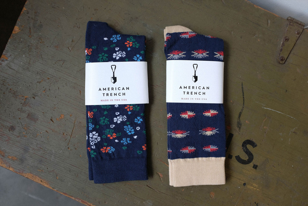 American Trench Critter and Floral Socks