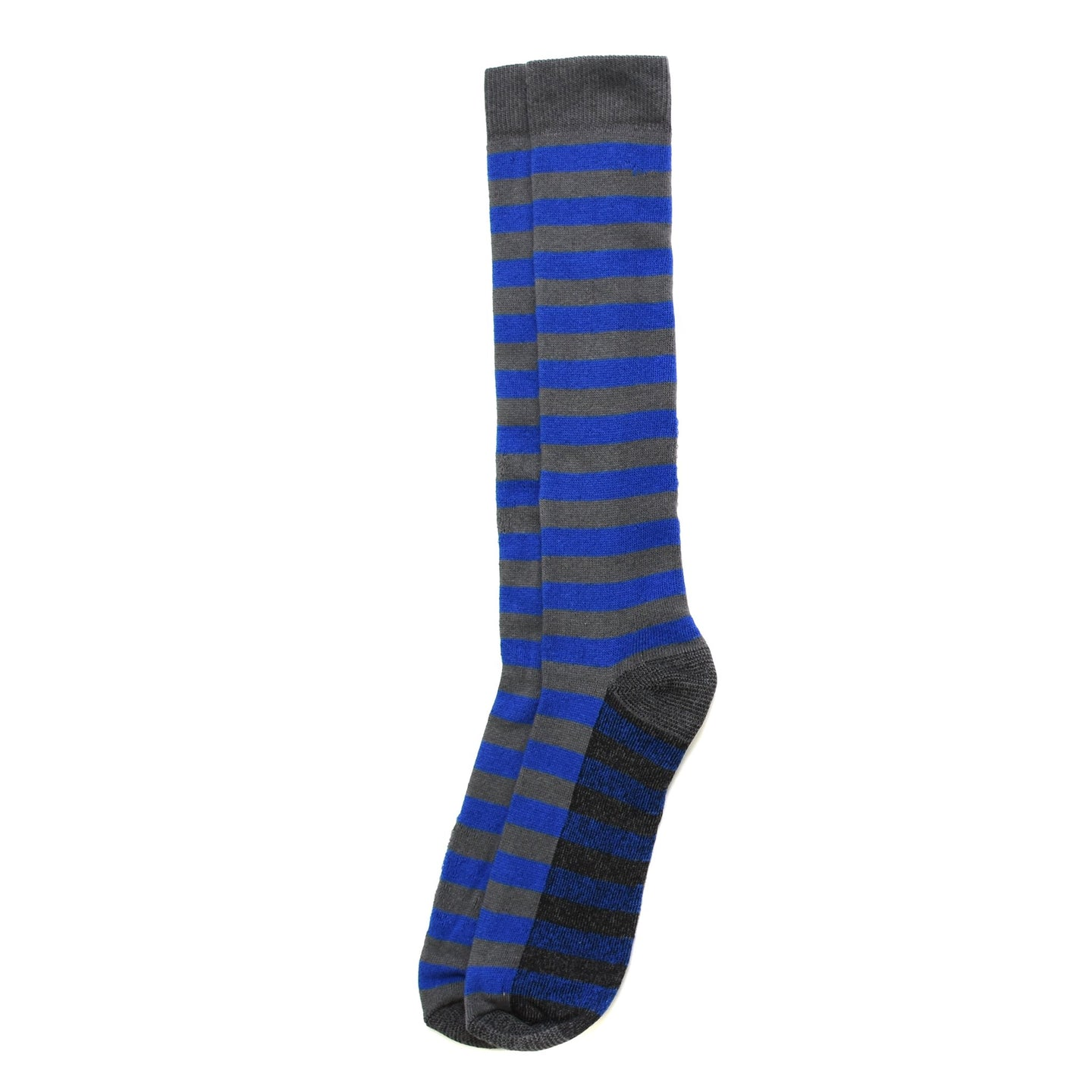 Silver Rugby Stripe Sock