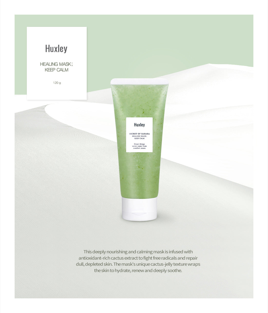 Huxley Keep Calm Mask info