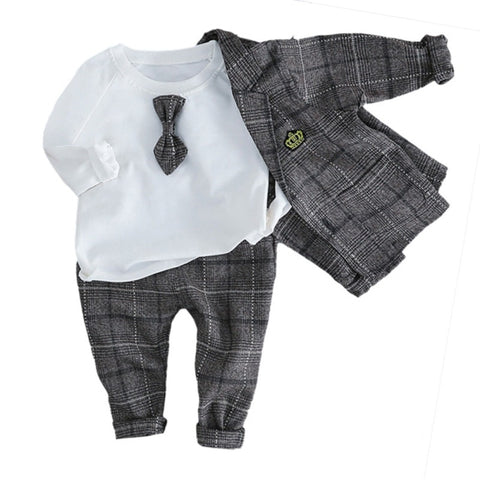 Spring Autumn Boys Dress Three-piece Suit
