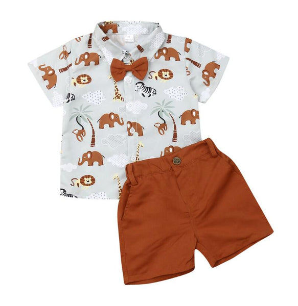 Summer Toddler Boys Party Formal Suit
