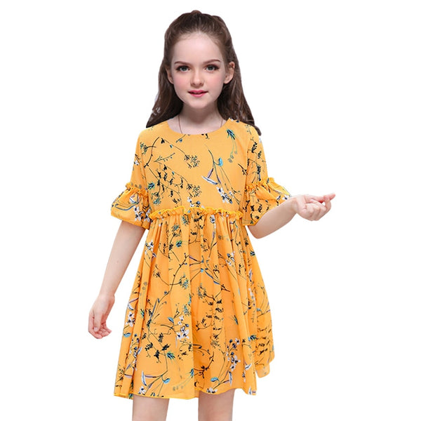 Summer Girls Print Beach Costume Sundress