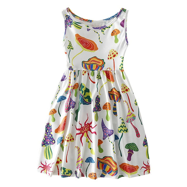 Girls Costume Mouse Ice Cream Print Dress