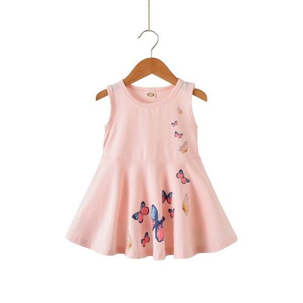 Baby Girls Sundress Butterflies Summer Clothes