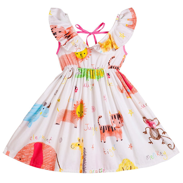 Baby Girl Cotton Summer Floral Print Dress
