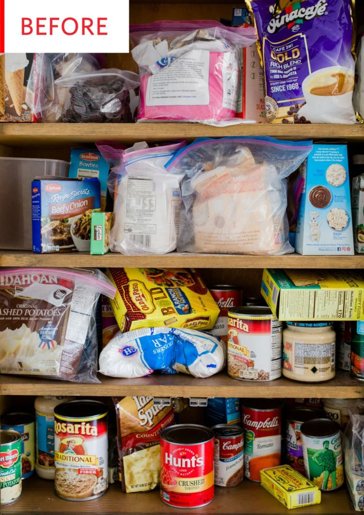Before and After: A Cluttered, Stress-Inducing Pantry Gets a Streamlined Redo