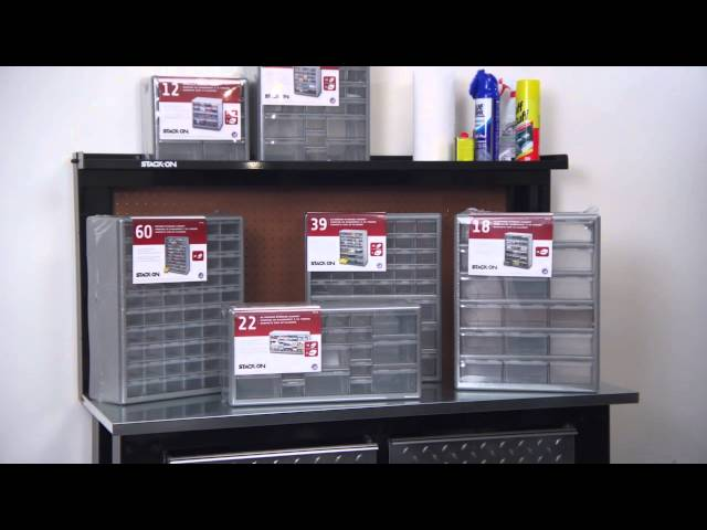 Vido tour of drawer cabinets.