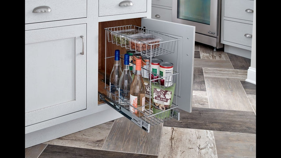 Take your kitchen cabinets back with these beautiful Premium Kitchen Cabinet organizers designed specifically for food container storage and organization.