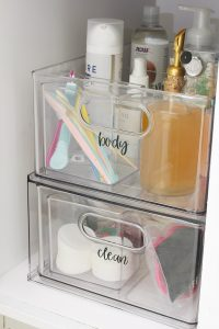 Check out these beautiful bathroom cabinet organizer ideas for a pretty and organized bathroom space