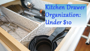 KITCHEN DRAWER ORGANIZATION IDEAS - For those messy drawers The Southern Girl shares with you how to create a custom & stylish Kitchen Drawer ...