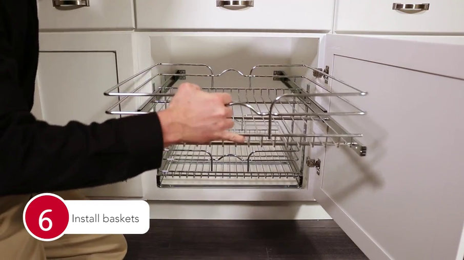5WB2 Chrome Pull-Out Baskets For Your Kitchen Cabinet Installation by Rev-A-Shelf - Call us at 1-800-667-8721 or Visit: ...
