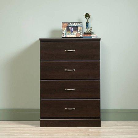 Amazon best reliable four drawer chest good metal runners and safety stops ideal storage solution long lasting sturdy wood composite materials use in home office and living room expert guide espresso
