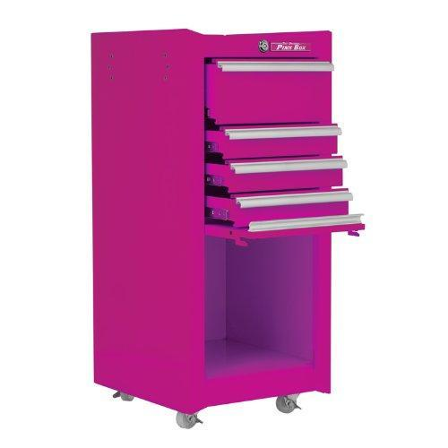 Explore the original pink box pb1804r 16 inch 4 drawer 18g steel rolling tool salon cart with bulk storage pink