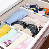 Discover wooden life dresser drawer organizers expandable drawer organizer divider for bedroom bathroom closet office kitchen storage 4 pack