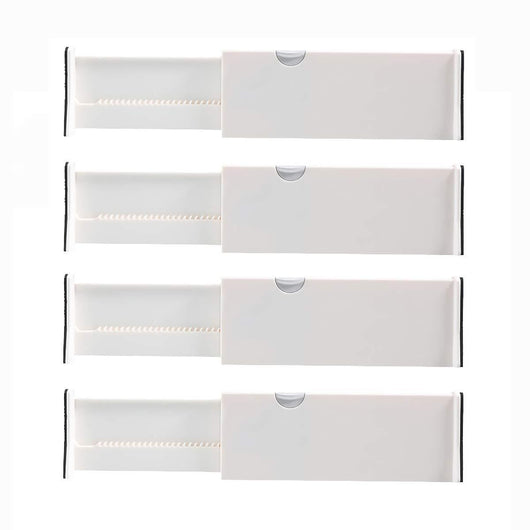 Order now kingrol 4 pack adjustable drawer organizer dividers with foam ends for kitchen dresser bedroom bathroom office storage