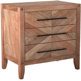 Shop scott living auburn white washed natural finish nightstand with 3 drawers