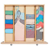 Discover the unuber bamboo kitchen drawer dividers drawer organizers expandable drawer dividers separators organizers for in kitchen dresser bathroom bedroom desk baby drawer