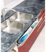 Rev-A-Shelf 16 in Stainless Steel Tip-Out Tray Silver
