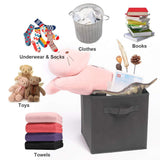 Shop for ximivogue storage box storage bins 3 pack storage cube basket bins cloth folding box closet drawers container dresser basket organizer shelf collapsible for underwear sock bra tight kids toy brown