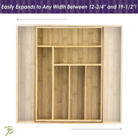 Purchase totally bamboo expandable drawer organizer 8 compartments for cutlery utensils and more