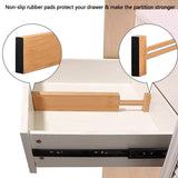 Exclusive unuber bamboo kitchen drawer dividers drawer organizers expandable drawer dividers separators organizers for in kitchen dresser bathroom bedroom desk baby drawer